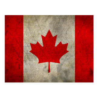 Vintage Maple Leaf Canadian Flag Postcard