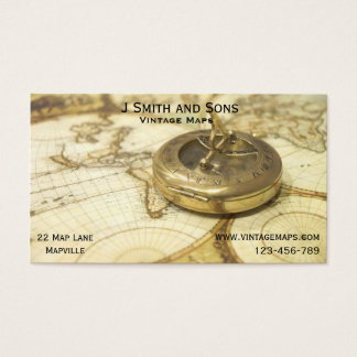Vintage Maps and Map business or Cartographer Business Card