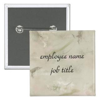 Vintage Marble Employee Name Tag Button
