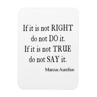 Vintage Marcus Aurelius Do Say Right True Quote Flexible Magnets