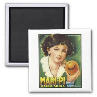 Vintage Mari-Pi Crate Label Refrigerator Magnet