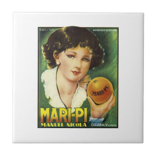 Vintage Mari-Pi Crate Label Tiles