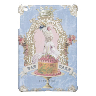 Vintage Marie Antoinette Eat Cake ipad mini case