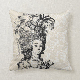 Vintage Marie Antoinette pillow