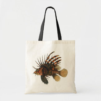 Vintage Marine Ocean Life Animal, Lionfish, Fish Canvas Bags