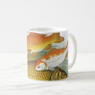 Vintage Marine Sea Life Fish, Aquatic Goldfish Koi Coffee Mug