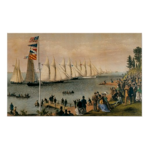 Vintage Maritime, New York Yacht Club Regatta Print