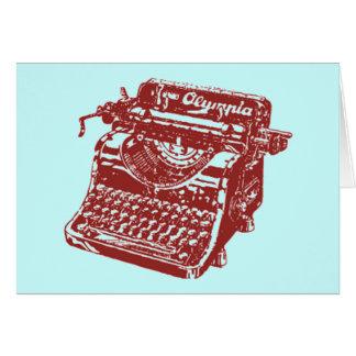 Vintage Maroon Typewriter Card