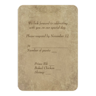 vintage Marriage License RSVP 9 Cm X 13 Cm Invitation Card