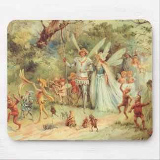 Vintage Marriage of Thumbelina and Prince Mouse Pad