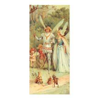 Vintage Marriage of Thumbelina and Prince Custom Rack Card