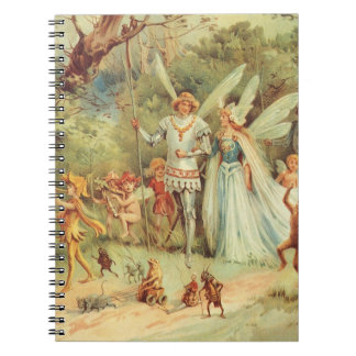 Vintage Marriage of Thumbelina and Prince Spiral Notebook