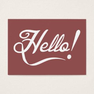 Vintage Marsala - Hello Business Card