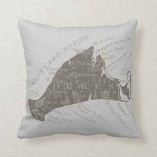 Vintage Martha's Vineyard, gray Cushion