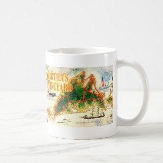 Vintage Martha's Vineyard Map Colorful Photo Coffee Mug