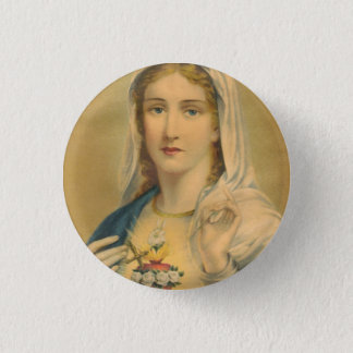 Vintage Mary 3 Cm Round Badge