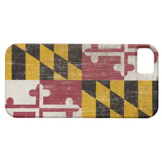 Vintage Maryland Flag Case For The iPhone 5