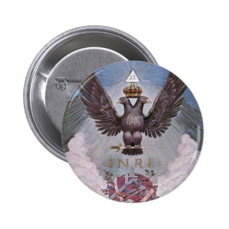Vintage Masonic Print 6 Cm Round Badge