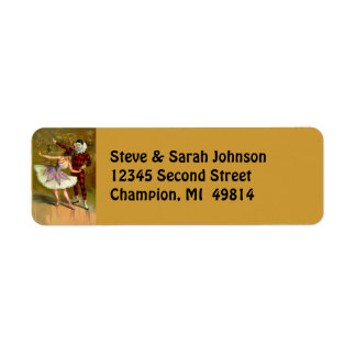 Vintage Masquerade Ball & Costumes Address Labels
