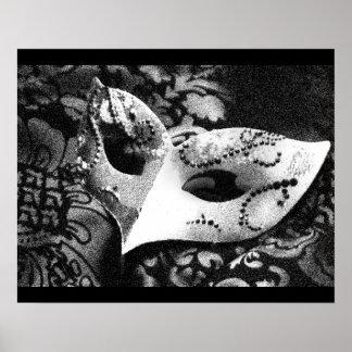Vintage Masquerade Mask Poster