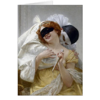 Vintage Masquerade Pierrot Card