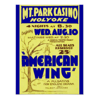 Vintage Massachusetts: Mountain Park Casino, Play Poster