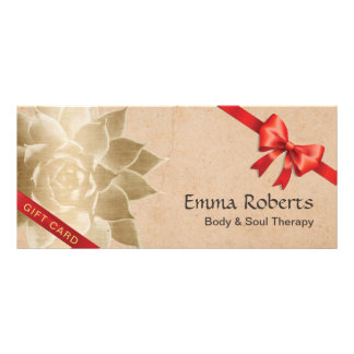 Vintage Massage Therapy Lotus Gift Certificates
