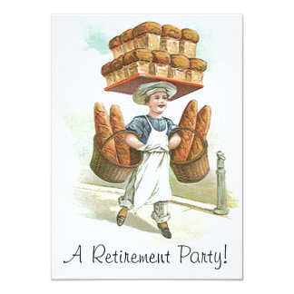 Vintage Master Bakery Baker Retirement Invitations