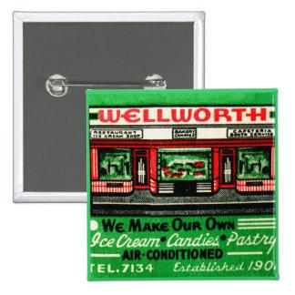 Vintage Matchbook Matches Wellworth Restaurant Pin
