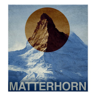 Vintage Matterhorn Switzerland Travel Poster