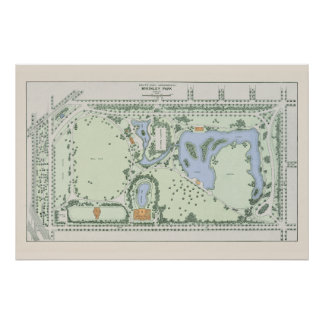 Vintage McKinley Park Map - Chicago 1906 Poster