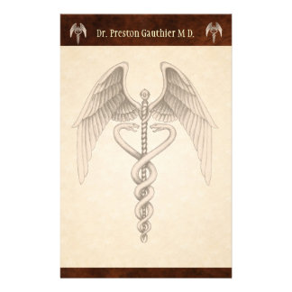 Vintage Medical Caduceus Symbol  Stationery
