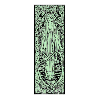 Vintage - Medieval Style Nature Spirit Poster