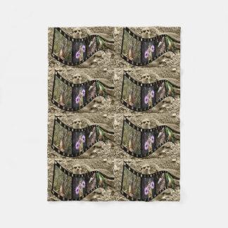 Vintage Meerkat Photo Strip, Small Fleece Blanket