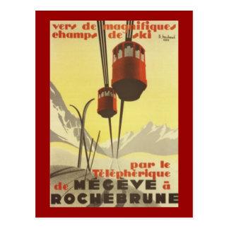 Vintage Mégève, Rhône-Alpes, France - Postcard
