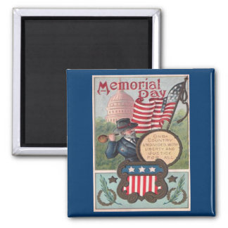 Vintage Memorial Day - One Country Square Magnet