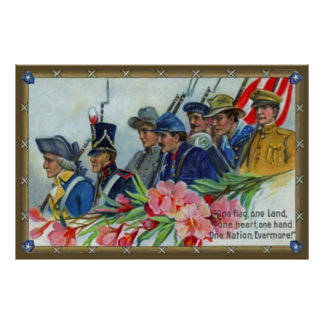 Vintage Memorial Day Soldiers Poster
