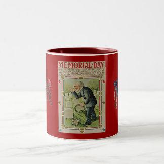 Vintage Memorial Day The Fallen Two-Tone Coffee Mug