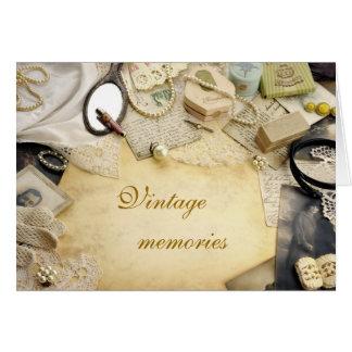 Vintage  memories card