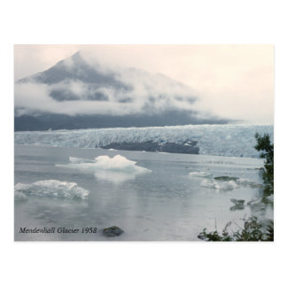 Vintage Mendenhall Glacier Photo Postcard
