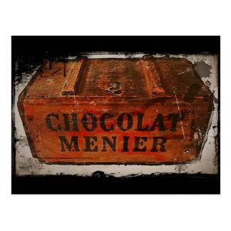 Vintage Menier Chocolate Crate Postcard