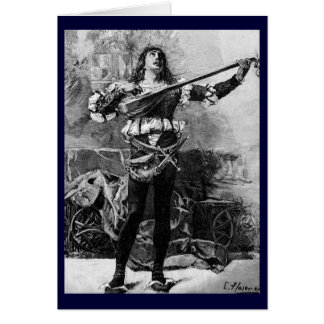 Vintage - Men's Fashion - Middle Ages Greeting Card