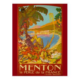 Vintage Menton CoTe D'azur France Postcard