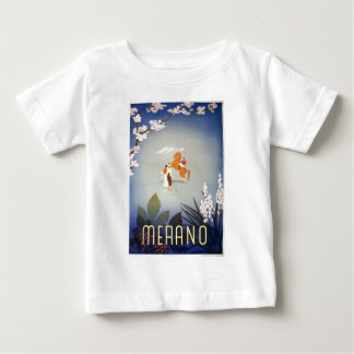 Vintage Merano Italy Horse and Golfers Travel Baby T-Shirt
