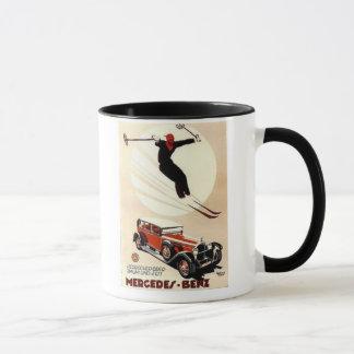 Vintage Mercedes Benz Ski Ad