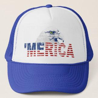 Vintage 'MERICA U.S. Flag & Eagle Trucker Hat