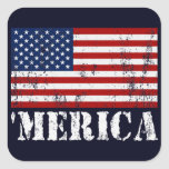 Vintage 'MERICA U.S. Flag Stickers