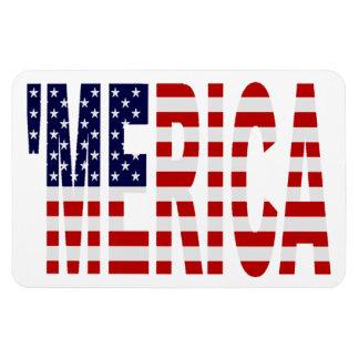 Vintage 'MERICA US Flag Patriotic Premium Magnet