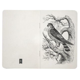 Vintage Merlin Falcon Bird - Birds Template Blank Journal