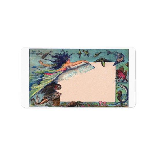 Vintage Mermaid Address Label